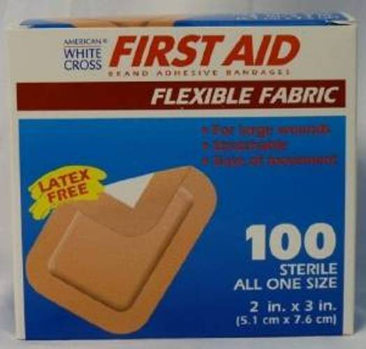 "American® White Cross Extra Large Flexible Fabric Bandages: 2"" X 3"", 200"