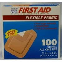 "American White Cross Flexible Fabric 2"" x 3"" Box of 100 Bandages MS-25700"