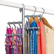 Lynk Hanging Pivoting Scarf Holder - Jewelry, Belt, Accessory Hanger - Hook  Rack Closet