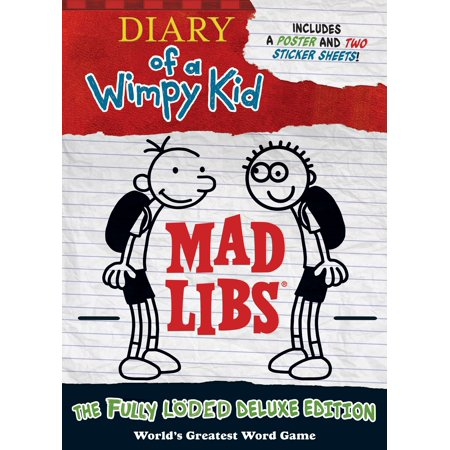 Diary Of A Wimpy Kid Mad Libs   The Fully L Ded Deluxe Edition