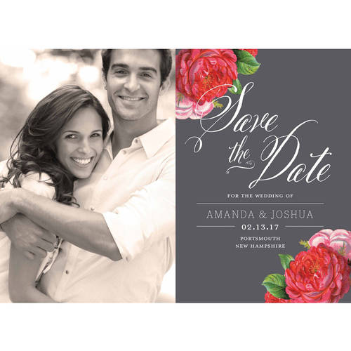 Vintage Blooms Standard Save the Date