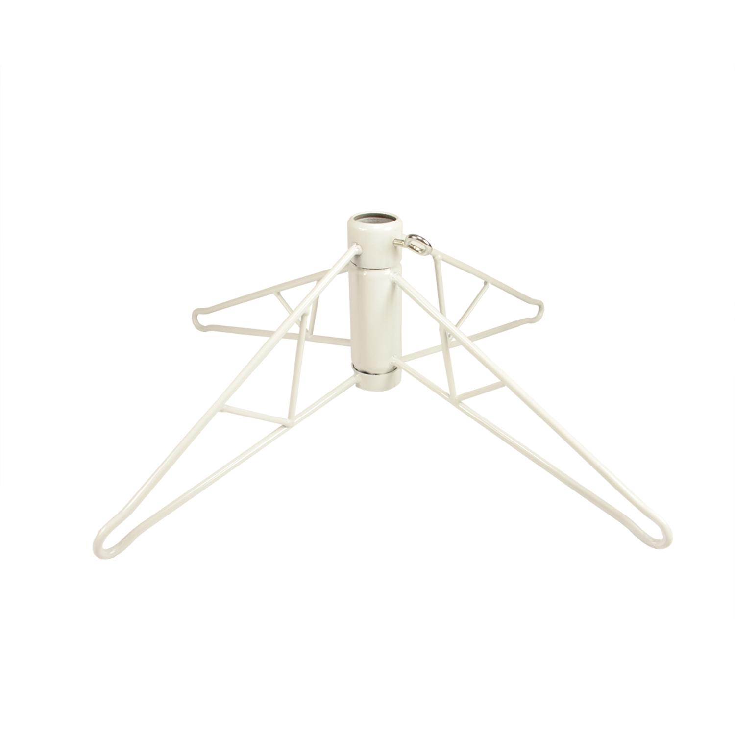 White Metal Christmas Tree Stand For 4' - 4.5' Artificial ...
