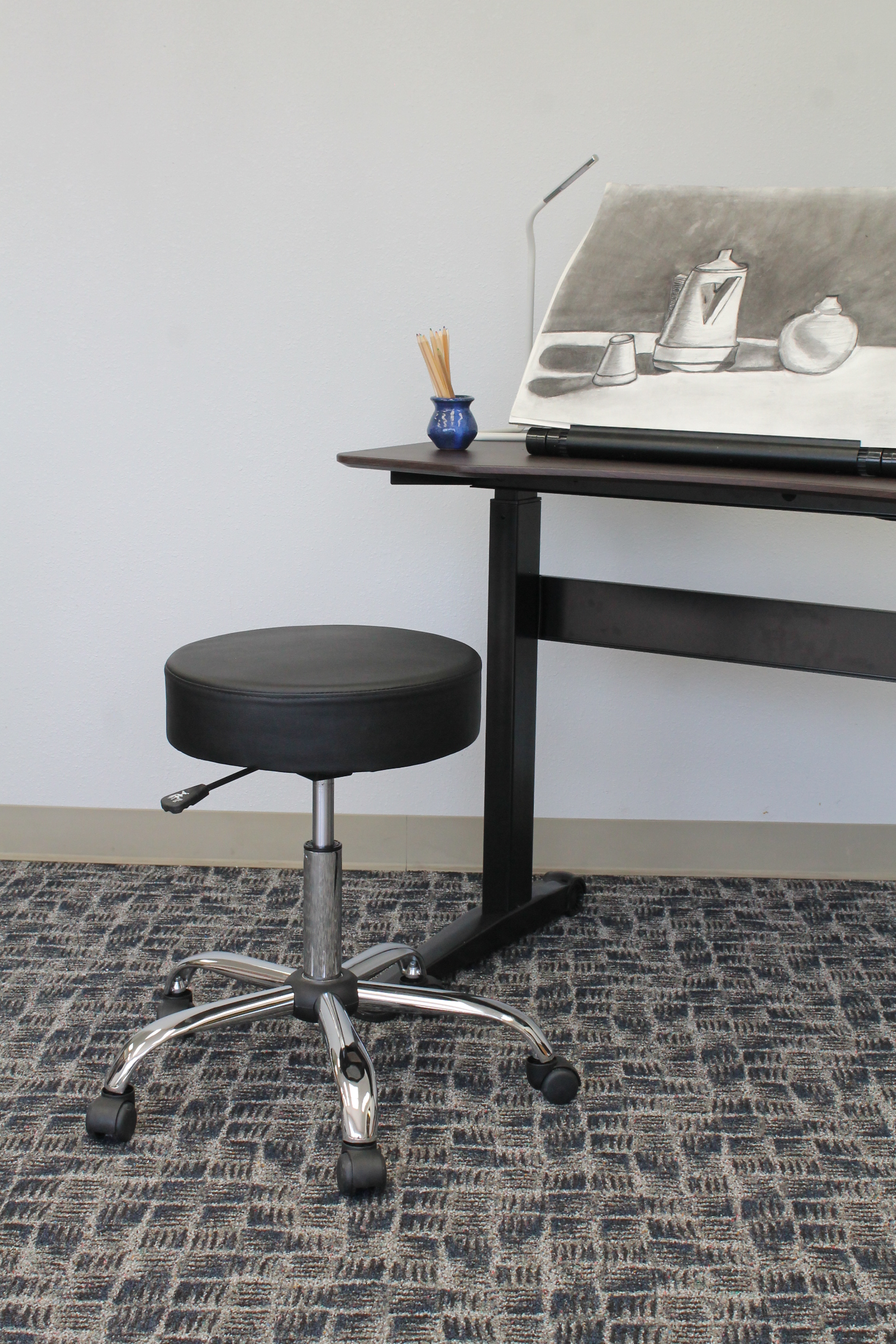 Boss Office Products Black Adjustable Upholstered Medical Stool  sc 1 st  Walmart & Boss Office Products Black Adjustable Upholstered Medical Stool ... islam-shia.org
