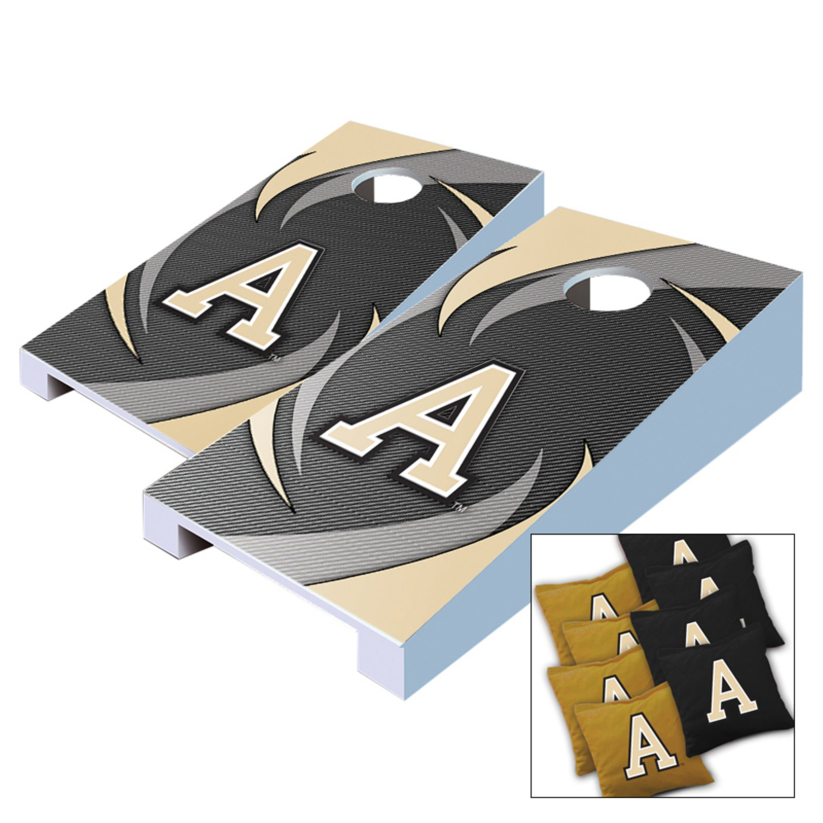 NCAA Army Black Knights Swoosh Tabletop Cornhole Set by AJJ Cornhole