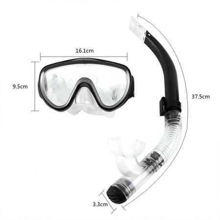 Blue Diving Mask (Estink Adjustable Snorkeling Set for Adults Resistant Tempered Glass Lens Diving Mask Snorkel Mouthpiece Snorkeling Combo Set (Blue) )