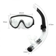 Estink Adjustable Snorkeling Set for Adults Resistant Tempered Glass Lens Diving Mask Snorkel Mouthpiece Snorkeling Combo