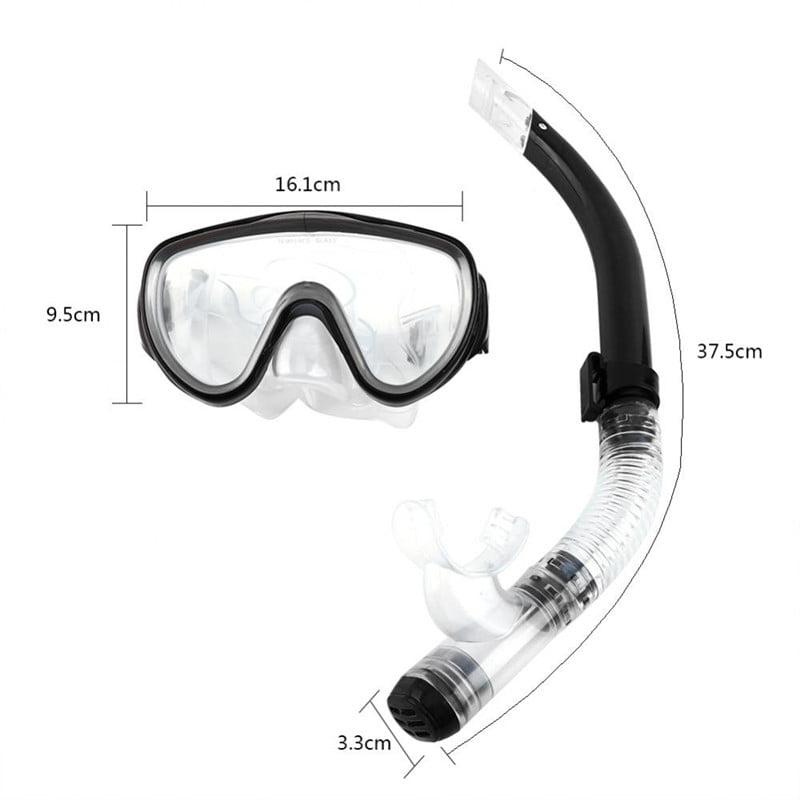 Estink Adjustable Snorkeling Set for Adults Resistant Tempered Glass Lens Diving Mask Snorkel Mouthpiece Snorkeling Combo Set (Blue)