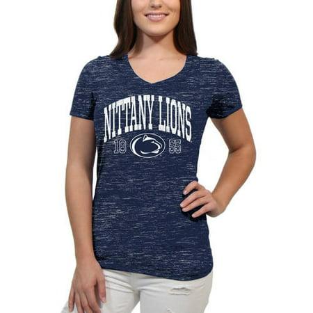 timeless design c6581 b90d7 Penn State Nittany Lions Text Overlay Women s Juniors Team Short Sleeve V  Neck Tee Shirt - Walmart.com