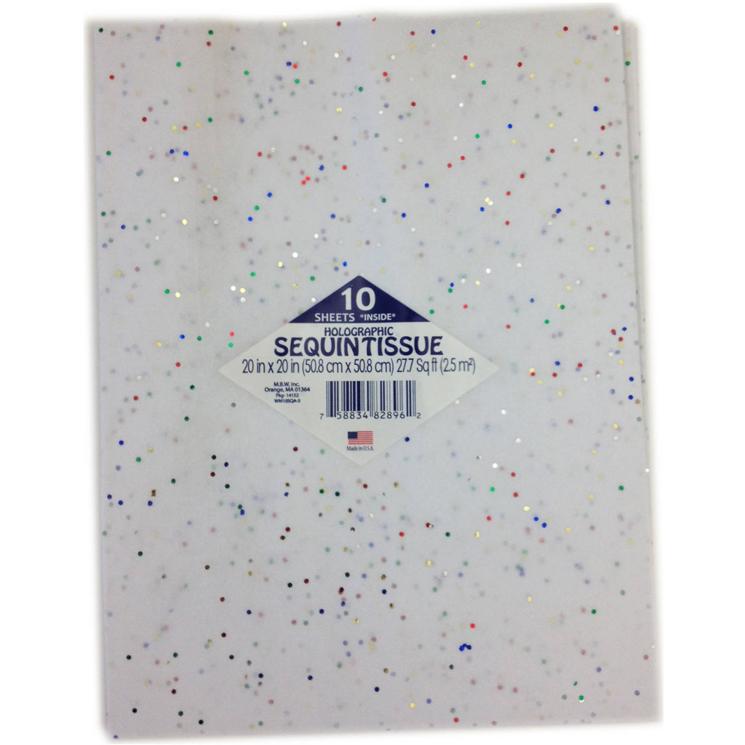 White with 5-Color Tissue Paper, 10pk