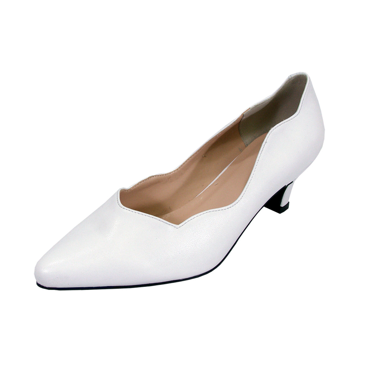 Extra Wide Width Dress Shoes WHITE