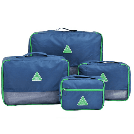 Place Value Cubes (Packing Cubes Travel Luggage Packing Organizers Dark Blue - 4pc Value Set)