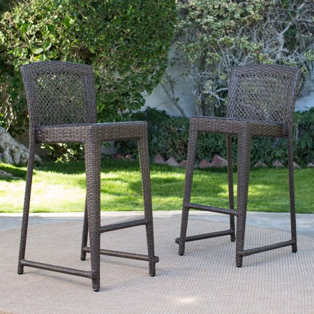 C Coast Brisbane All Weather Wicker Balcony Bar Stool Set Of 2