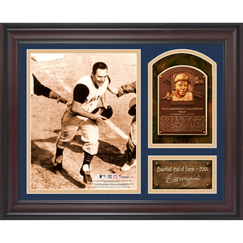 "Bill Mazeroski Pittsburgh Pirates Fanatics Authentic Framed 15"" x 17"" Baseball Hall of Fame Collage with Facsimile Signature - No Size"