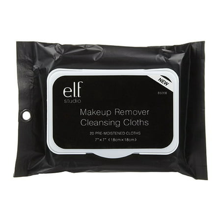 E L F  Cosmetics Makeup Remover Cleansing Cloths  20 Ct