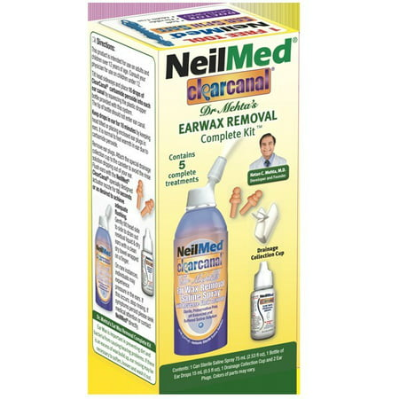 Neilmed Clearcanal Dr. Mehta cérumen Retrait Kit complet, 5 pc