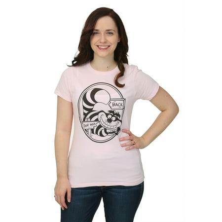 Womens Alice In Wonderland That Way Cheshire Cat T-Shirt - Baby Cheshire Cat