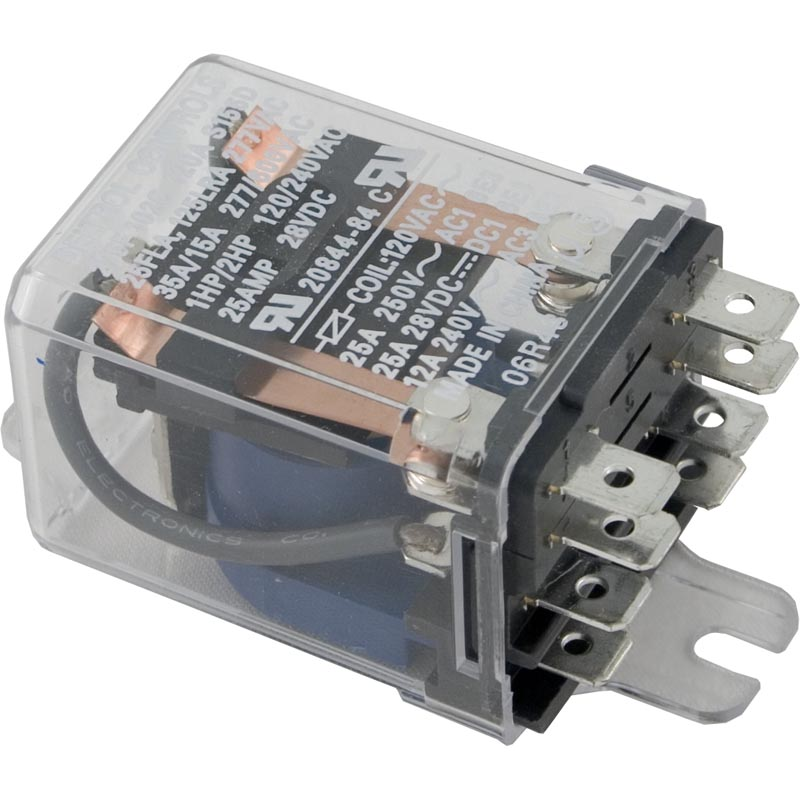 Relay, Deltrol Controls, DPDT, 30A, 115v, Coil, Dustcover