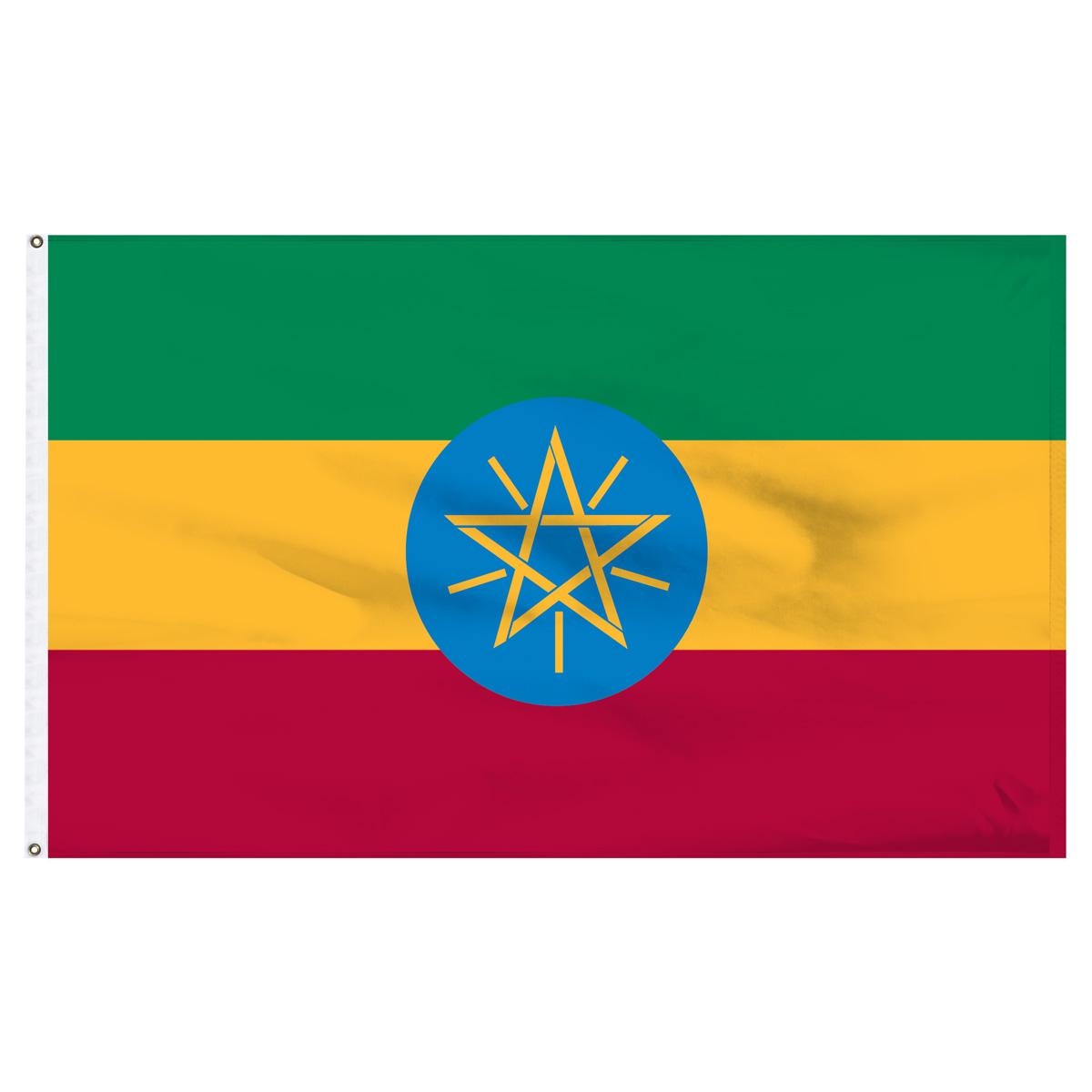 Ethiopia Flag 2ft x 3ft Nylon