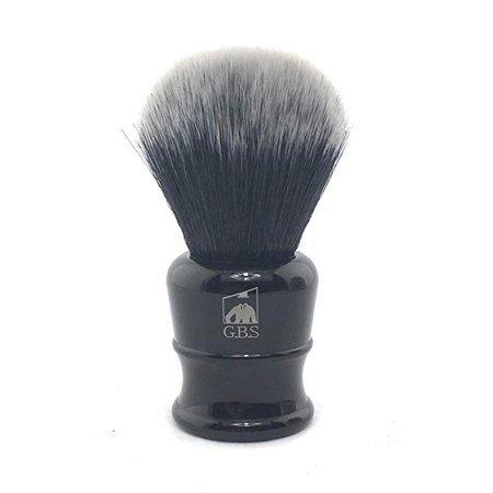 GBS Super Soft 7th Generation Synthetic Fibre Black Bristles Shaving Brush. Performs Better Than a Badger Brush Best Vegan Animal Free Brush on The