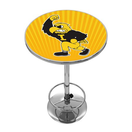 University of Iowa Chrome Pub Table - Herky Iowa Pub Table