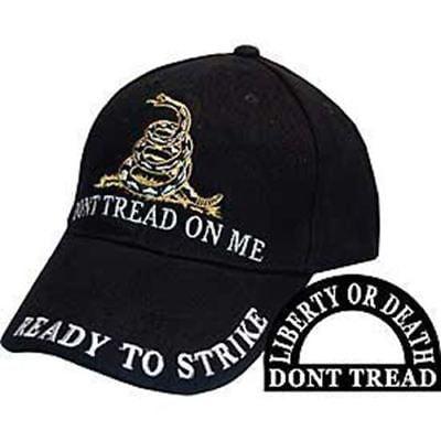 - DON'T TREAD ON ME GADSDEN FLAG LIBERTY OR DEATH HAT CAP TEA PARTY RATTLESNAKE