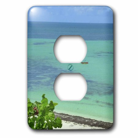 3dRose Florida Key View - 2 Plug Outlet Cover (Florida Keys Outlet Mall)