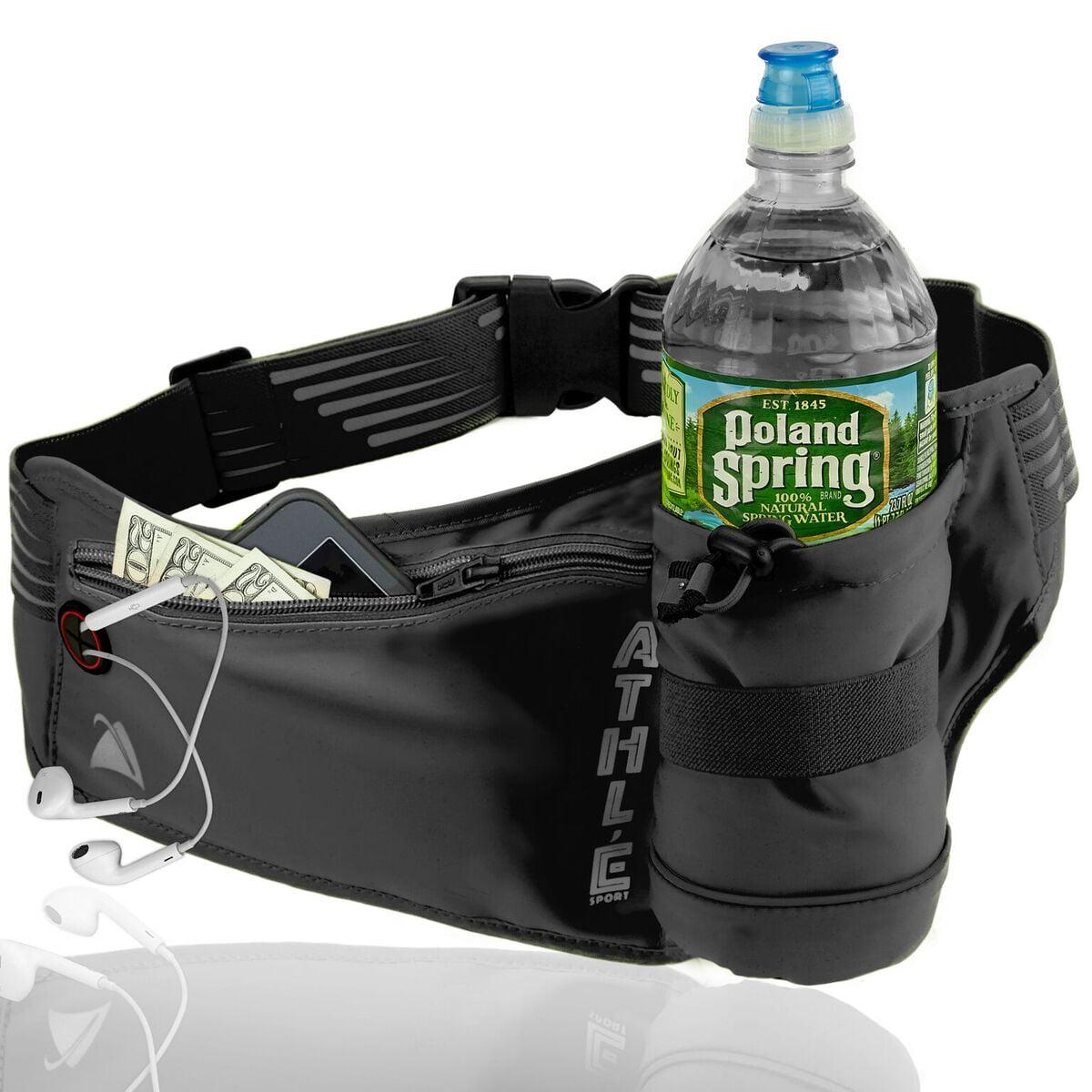 Lightweight Reflective Running Waist Bag Pack with Water Bottle Pockets