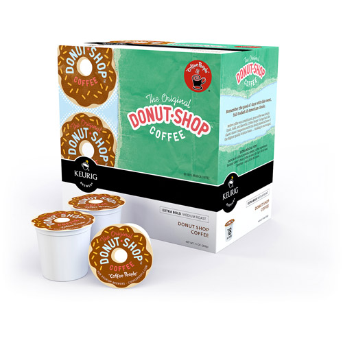 Keurig K-Cups, Coffee People Donut Shop Coffee, 18ct