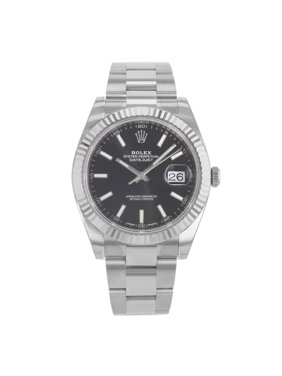 Rolex Datejust 41 126334 Black Dial 18K White Gold Steel Automatic Mens Watch