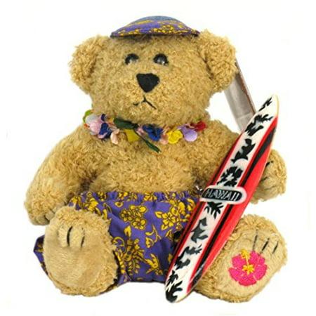 (Plush Hawaiian Surfer Boy Teddy Bear Collectible)