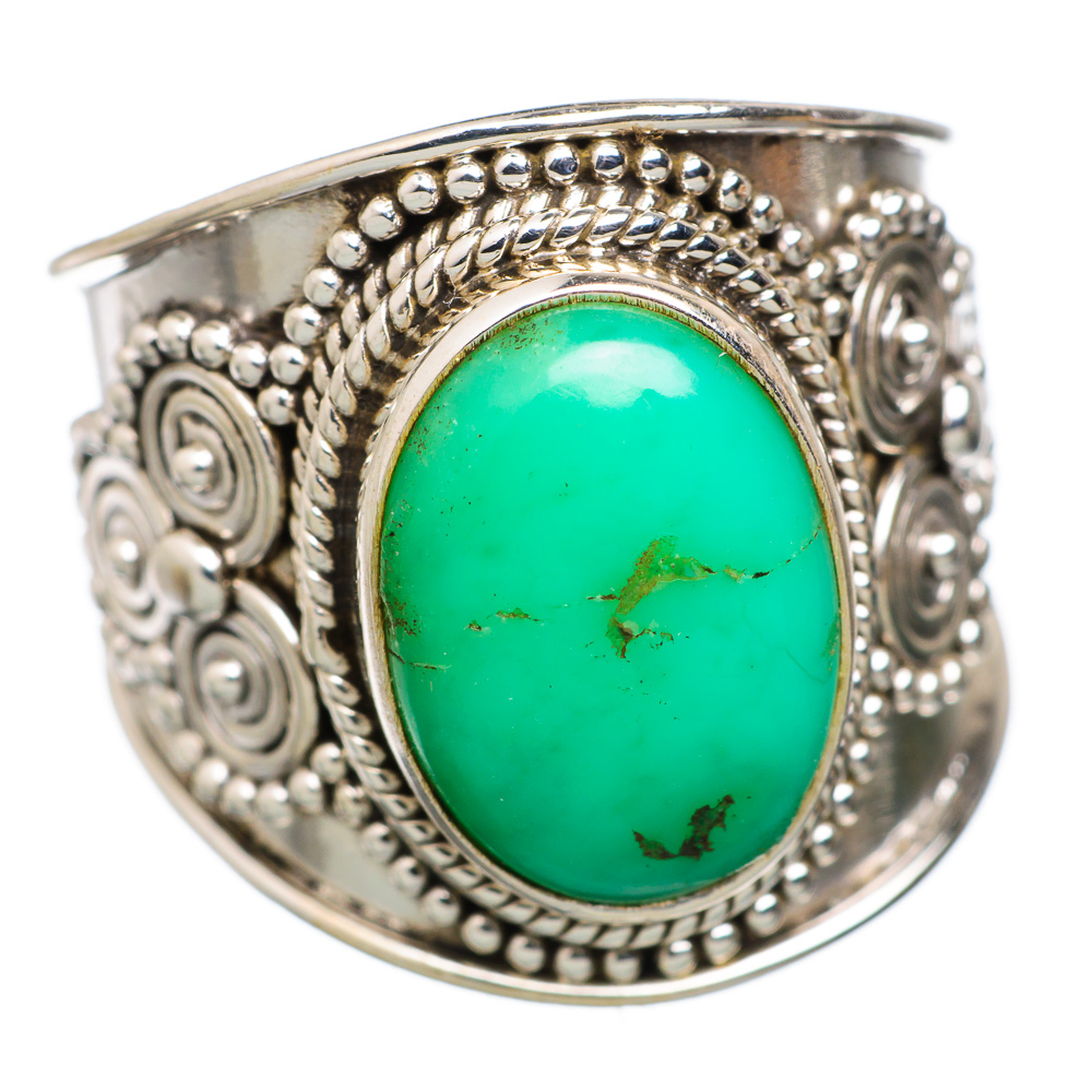 Ana Silver Co Chrysoprase 925 Sterling Silver Ring Size 8 RING822437 by Ana Silver Co.