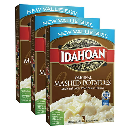 (3 Pack) Idahoan Original Mashed Potatoes, 26.2 oz