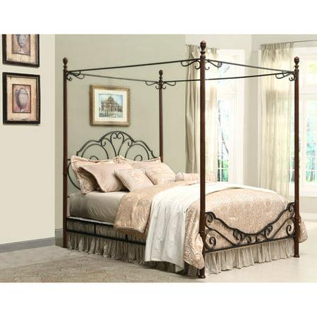 Adison Metal King Canopy Bed Walmart Com