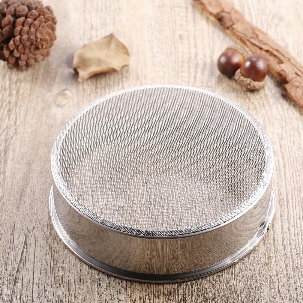 2017 New PREUP Stainless Steel Mesh Flour Sifter Mechanical Baking Icing Sugar Shaker Sieve Strainer Mesh... by