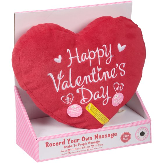 Happy Valentine\'s Day Recordable Pillow with Batteries - Walmart.com