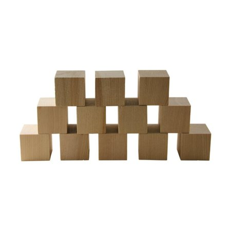"Wooden Cubes – 1.5"" Inch - Baby Wood Square Blocks – For Puzzle Making, Crafts, And DIY Projects –50 Pieces by Woodpecker Crafts ()"