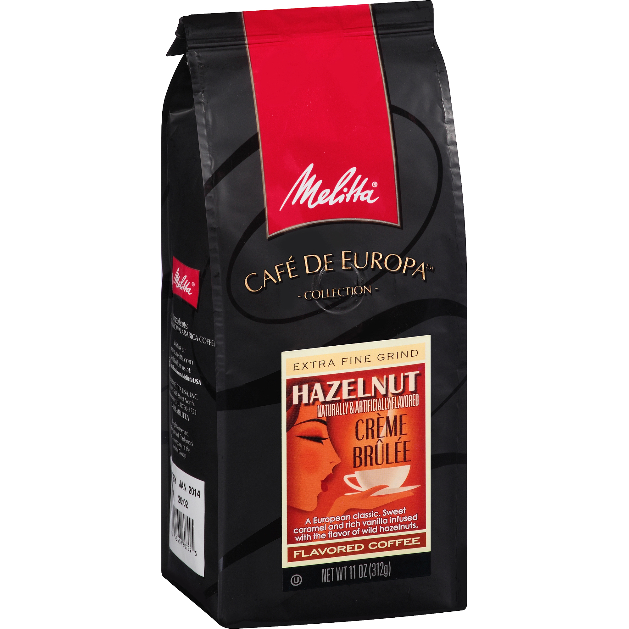 Melitta Cafe de Europa Medium Roast Hazelnut Creme Brulee Gourmet Coffee, 11 oz