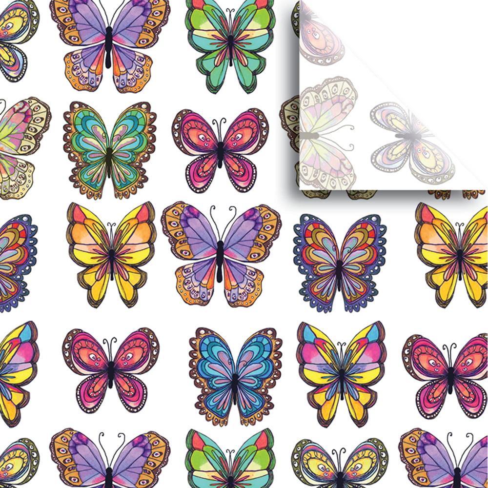 """Jillson & Roberts Printed Gift Tissue 20"""" x 30"""", Flutter (240 Sheets)"""