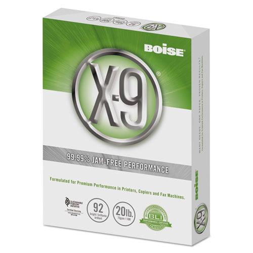 Boise OX-9001 X-9 Copy Paper- 92 Brightness- 20lb- 8-1 2 x 11- White- 5000 SHeets Carton by Boise