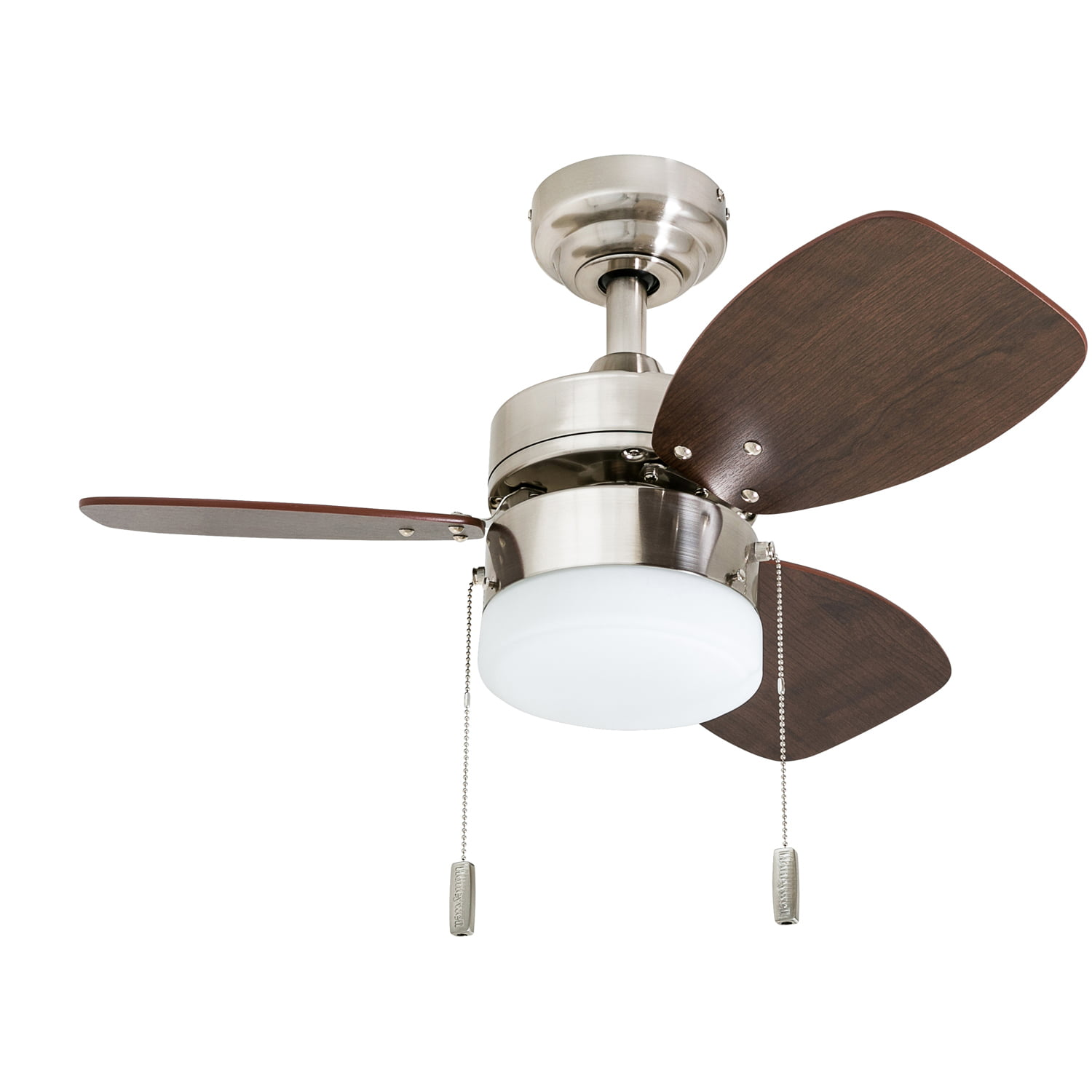 Honeywell Ocean Breeze 30 Inchbrushed Nickel Small 3 Blade Led Ceiling Fan With Light Walmart Com Walmart Com