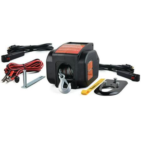 Hampton KWSL2000RM Portable Electric Winch, 2000 lb, 12 VDC, 0.8 hp, 5/32 in X 30 ft, (Portable Winch)