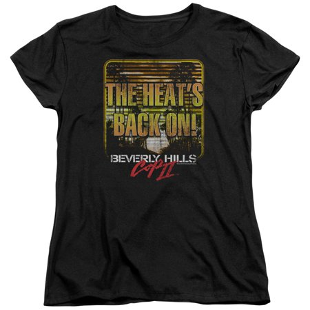 Beverly Hills Cop Iii Comedy Movie The Heats Back On Womens T Shirt Tee