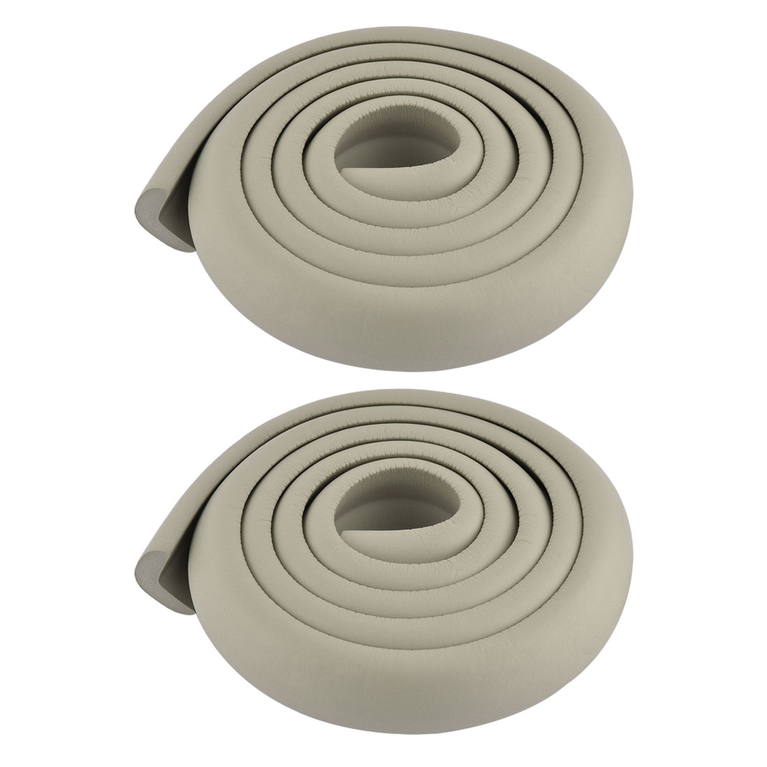 Room Furniture Dresser Foam Rubber Corner Edge Cover Protector Cushion Gray 2pcs