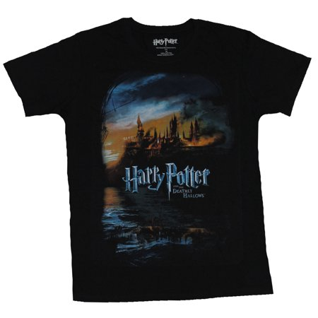 Harry Potter Mens T-Shirt -  The Deathly Hollows Movie Style Poster Image
