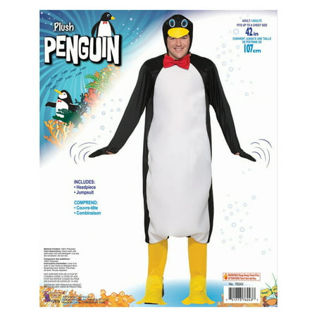 Halloween Plush Penguin Adult Costume