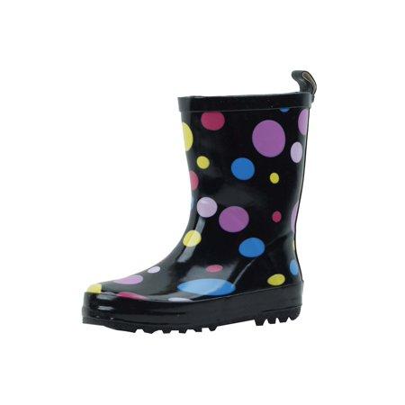 Starbay Brand Kid's Rubber Rain Boots Multi-Color polka dots Size 11 Polka Dot Waterproof Rain Boots