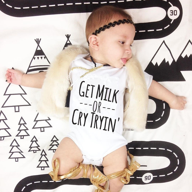Newborn Baby Boy Girl Clothes Summer Romper Bodysuit Cotton Sunsuit Outfits