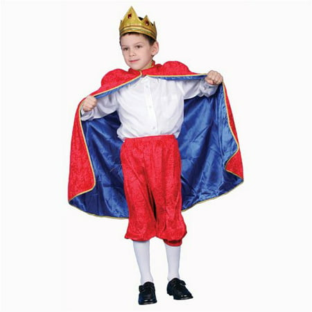 Deluxe Royal King Dress Up Costume Set - Red - Large 12-14 (Roman King Costume)