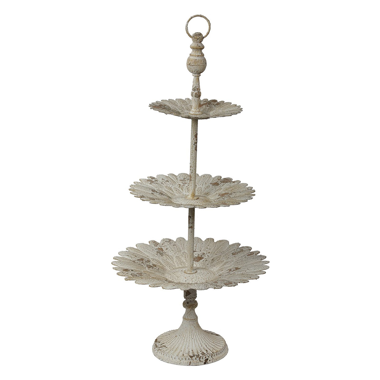 Privilege International Antique White 3 Tier Plate Stand  sc 1 st  Walmart.com & Privilege International Antique White 3 Tier Plate Stand - Walmart.com