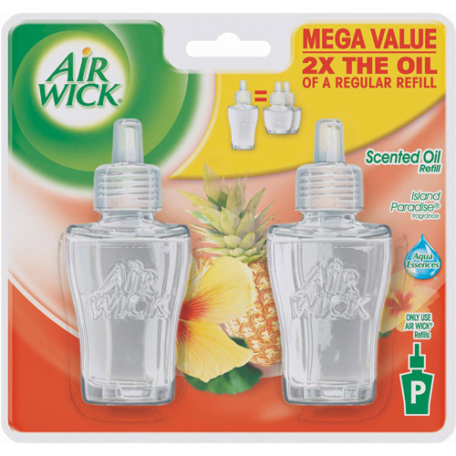 Air Wick Island Paradise Scented Oil Refill, 2 count, 2.7 fl oz